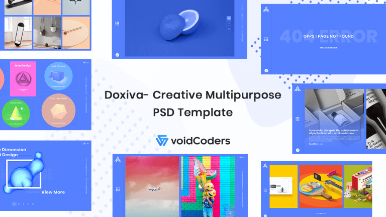 doxiva- creative multipurpose psd template