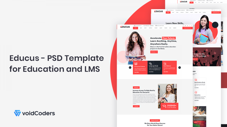 Educus PSD Template for Education and LMS