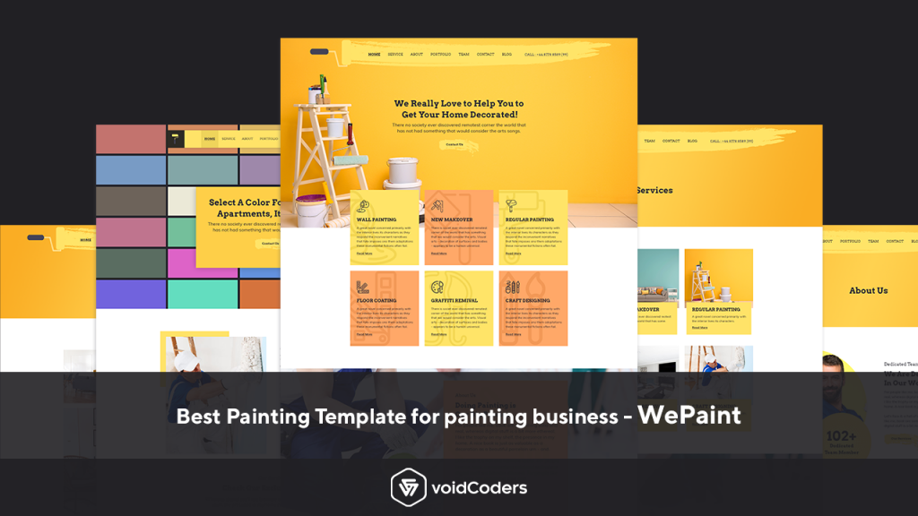 best painting website template