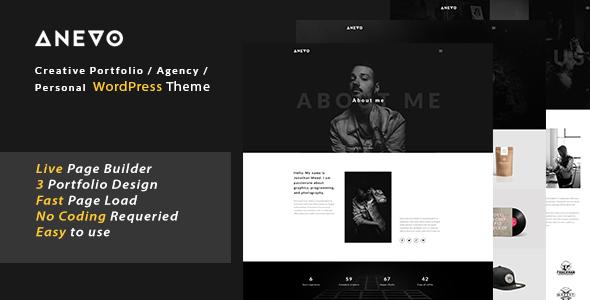 Anevo – Personal Portfolio WordPress Theme