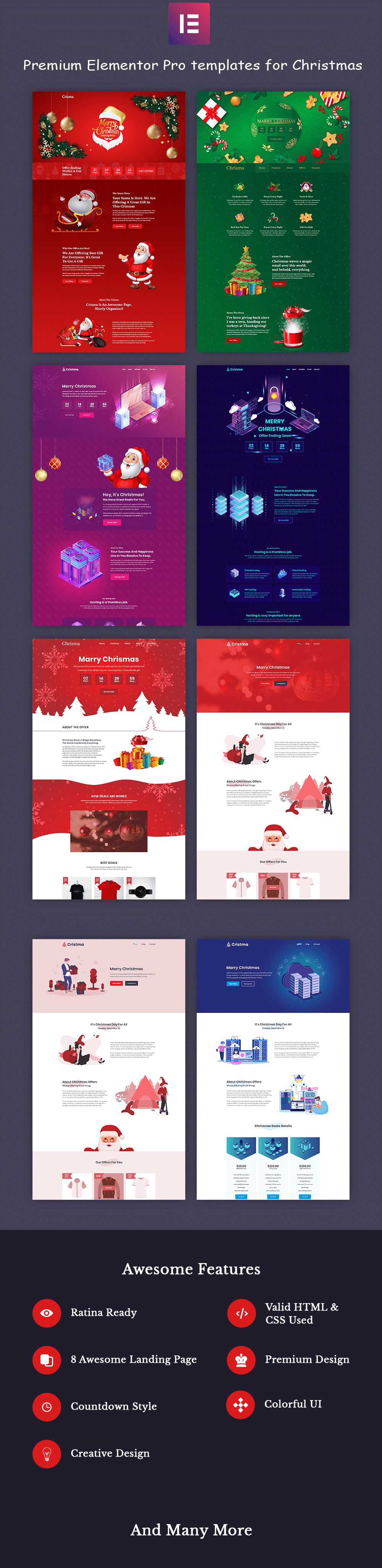 Elementor Christmas template